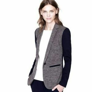 J crew Grey and Navy Blazer size 4